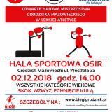 2. Otwarte Halowe Mistrzostwa Grodziska Maz. w Lekkiej Atletyce
